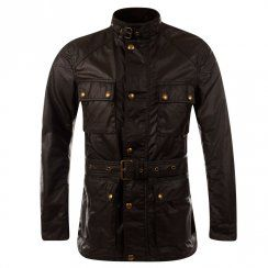 Belstaff Black Roadmaster Long Waxed Motercycle Jacket. Available now at www.brother2brother.co.uk