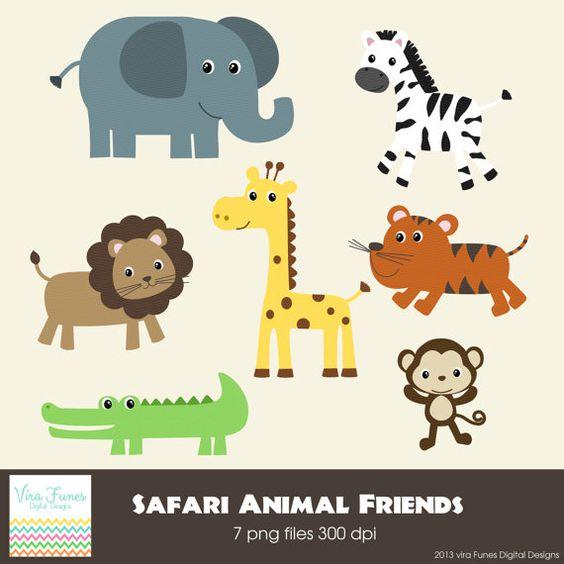 Safari Animal Friends Series 2 Digital Clipart by Dragonflytwist, $5.00