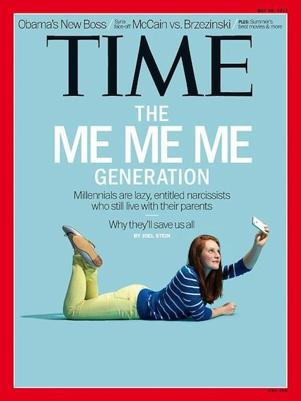 """Remember this controversial TIME article on """"The Me Me Me Generation""""? Ya, it was a pretty clever shot, we'll give them that."""