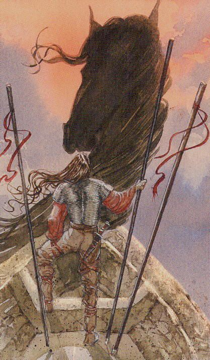 Three of Wands - Vikings Tarot by Manfredi Toraldo, Sergio Tisselli