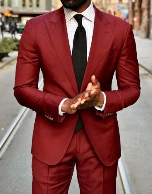 Red Suit Windowpane Print Shirt Wedding Suits Men Black Wedding Suits Men Best Wedding Suits