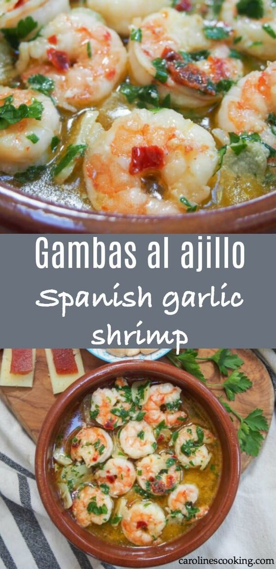 Spanish Garlic Shrimp - Mediterranean Diet Recipe