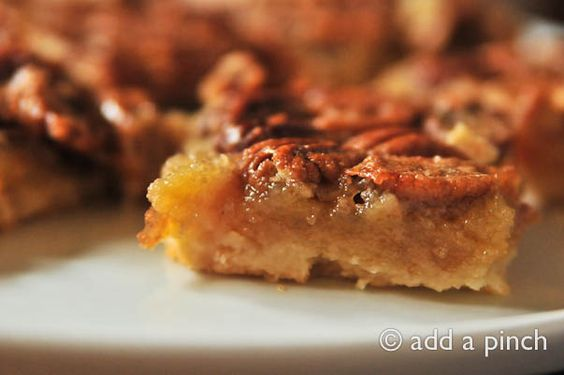 Southern Pecan Pie Bars....