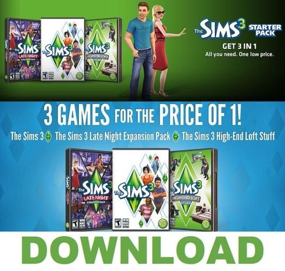 The sims 3 #starter pack pc - #origin download key (no dvd or #postage),  View more on the LINK: 	http://www.zeppy.io/product/gb/2/181870179222/
