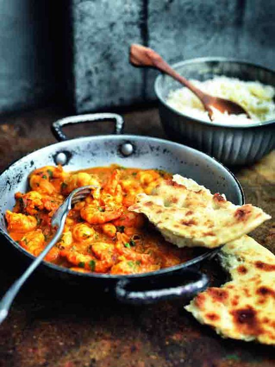Hot Punjabi king prawn curry