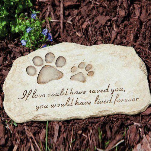 Pet Memorial Grave Headstone Plaque Dog Cat Burial