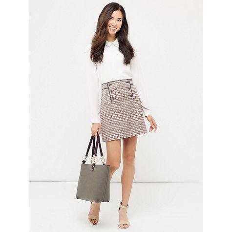 Buy Oasis Heart Jacquard Skirt, Multi Online at johnlewis.com