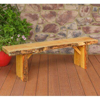 Loon Peak Bruggeman Live Edge Solid Wood Garden Bench Colour