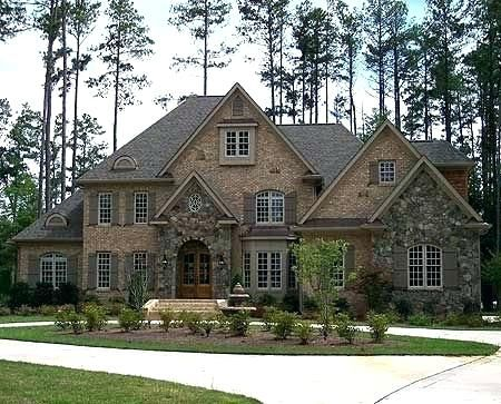 Stone House Plans Brick And Stone House Plans Architectural Designs House Plan Yummy With A G Brick Exterior House Architectural Design House Plans House Plans
