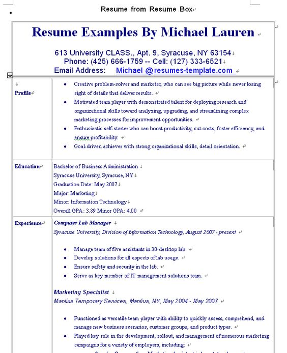 Resume examples wwwsamples-resume 2010 08 resume - computer lab manager sample resume