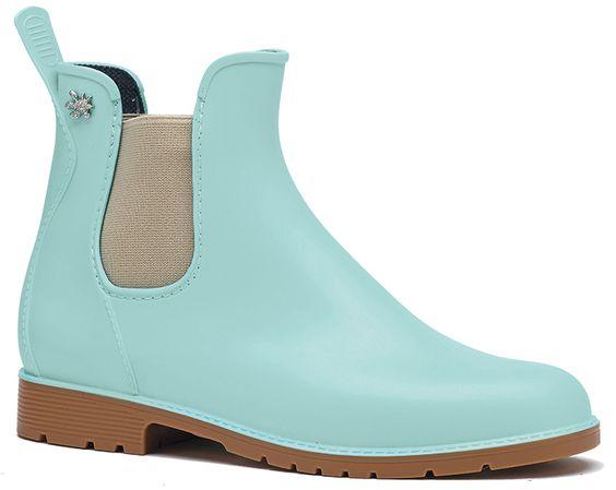 $2399**法國製造**Méduse®撞色霧面短靴JUMPY款(薄荷綠/焦糖) 0