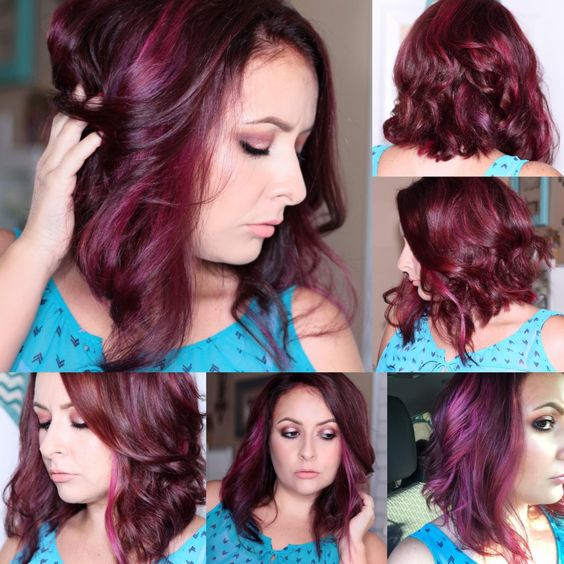 Lob Hairstyle #purplehair