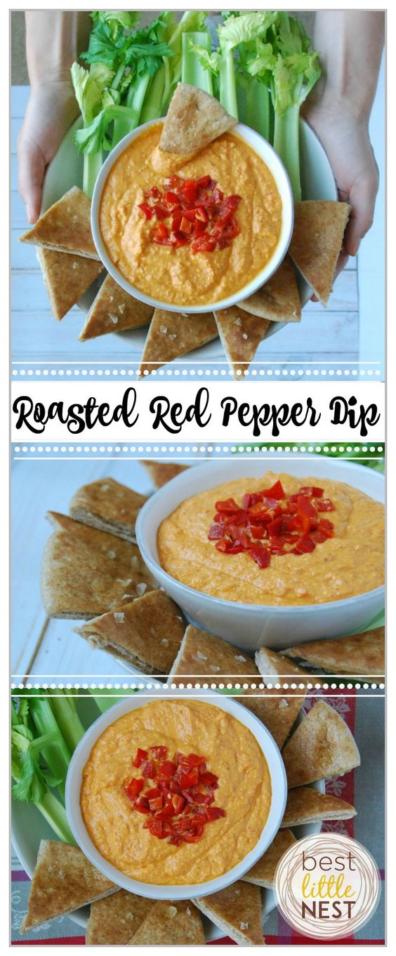This dip is a great appetizer paired with celery, carrots, cucumbers, bell peppers, cauliflower or whole wheat pita chips. Just add all ingredients & blend!