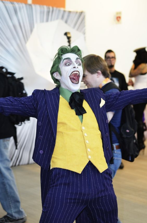 Probably the best joker cosplay ever. He's great.- Anthony Misiano.: