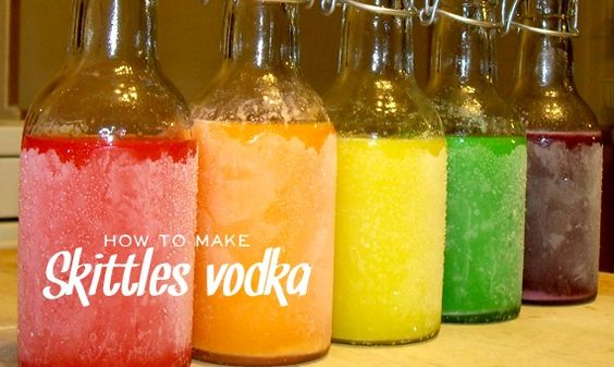 Skittles vodka. Yum!