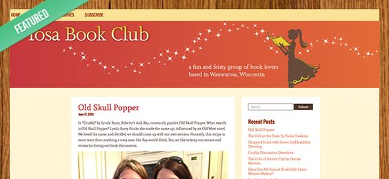 Featured Blog: Tosa Book Club #Typepad #blogging #books #bookclub