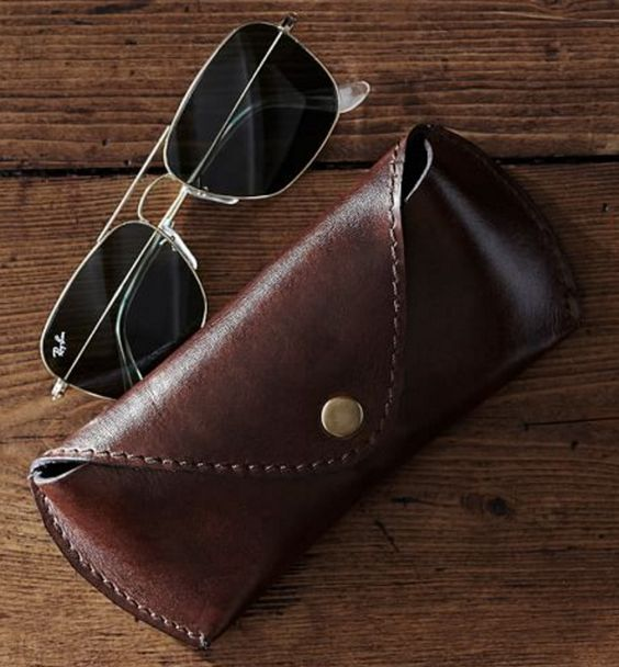 Saddle Leather Eyeglass Case