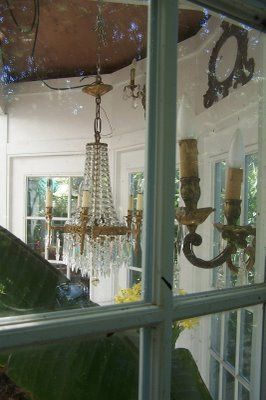 TARA DILLARD: CLIENT LANDSCAPE, view into the conservatory: