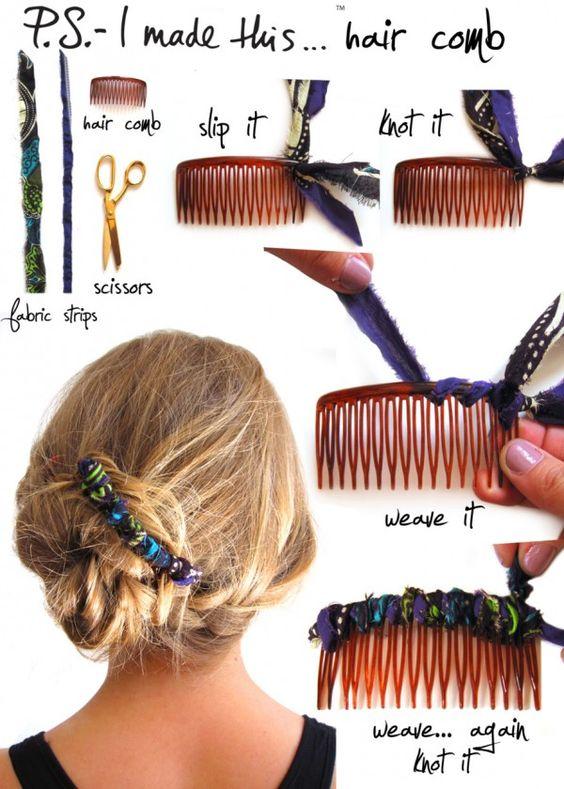 Dale un toque divertido a tus accesorios para el cabello con esta técnica >>>