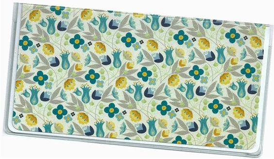 Checkbook Cover  Bluebell Everyday Floral by rabbitholeonline, $6.25