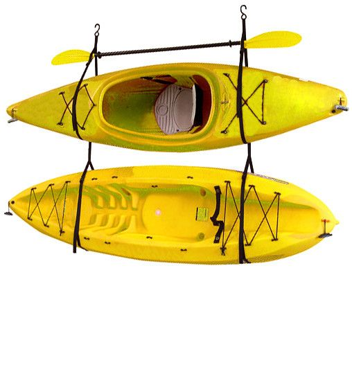 Kayak / Canoe Storage and Portage Hang 2 Deluxe Strap Storage System