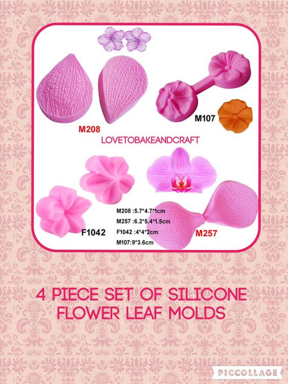 Flower molds petal molds rose veiner peony by Lovetobakeandcraft