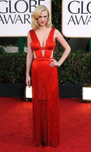 January Jones bei den Golden Globes 2011. Foto: picture alliance / dpa