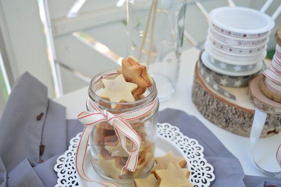 Last Minute: Marzipan Nougat Sternplätzchen / Marzipan Nougat Cookies