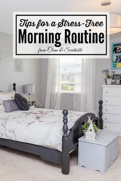 Great tips to help you create a functional morning routine. If you struggle to get going in the morning, this is for you!