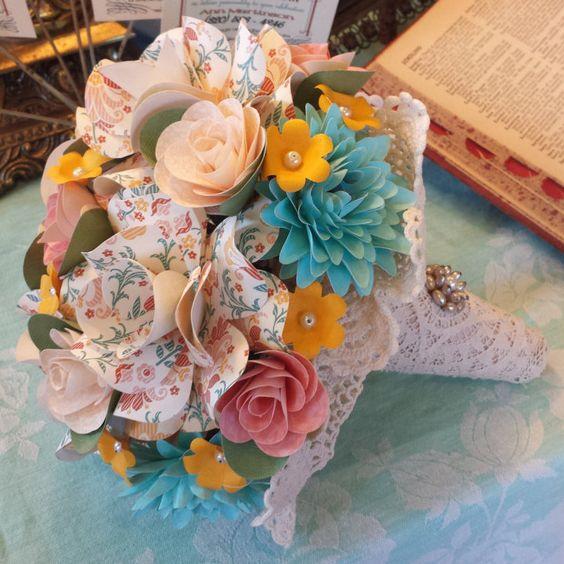 Bidal Bouquet by TrimmingsandCharm on Etsy