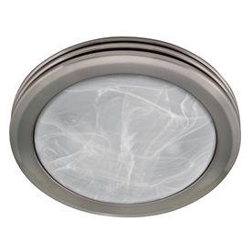 harbor breeze 2sone 80 cfm nickel bathroom fan with light lowes