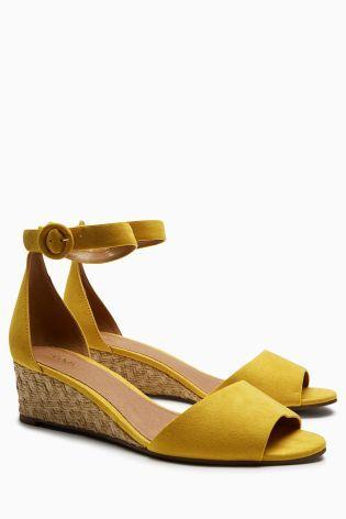Ochre Low Wedge Sandals | Size 11 women