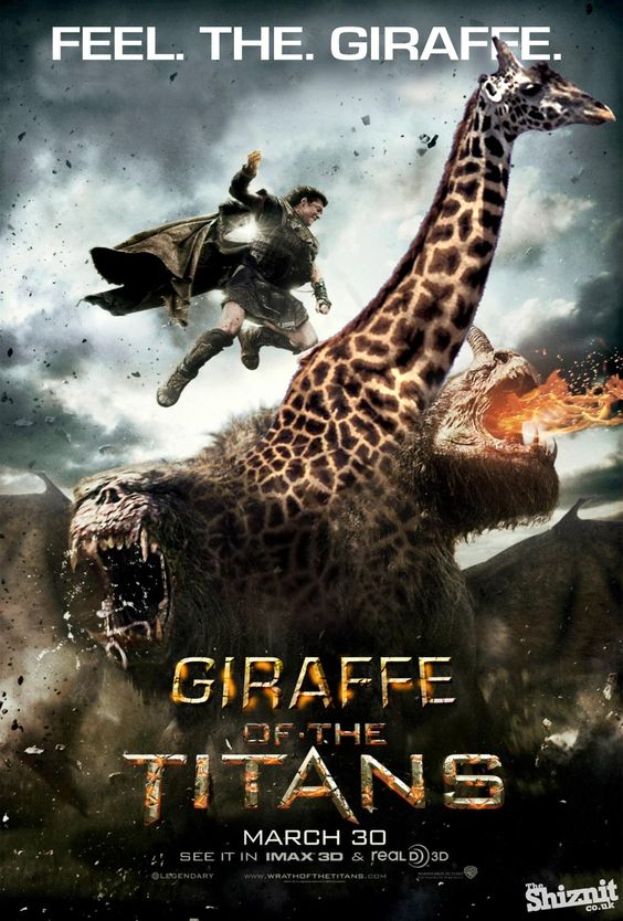 Wrath Of The Titans becomes Giraffe of The Titans Cute - griffe für küche