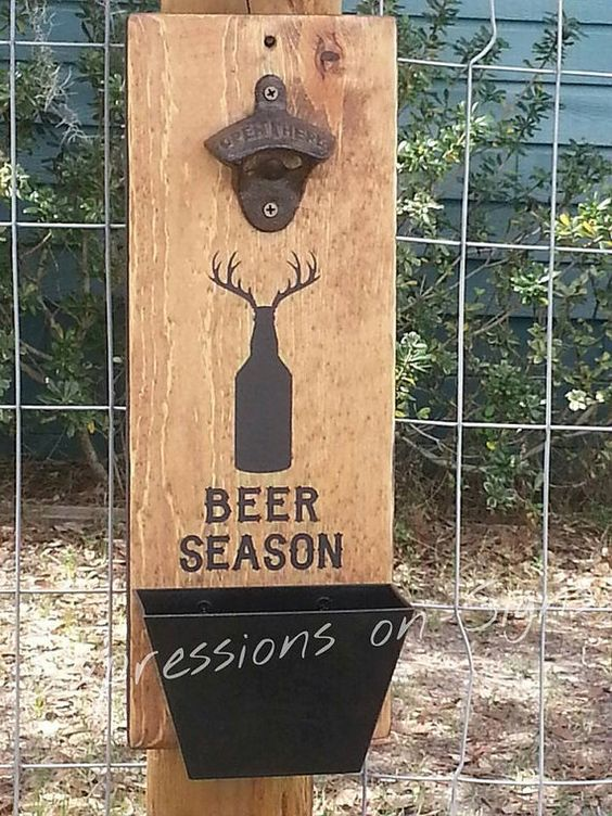 Wall Mount Bottle Opener And Cap Catcher Anniversary