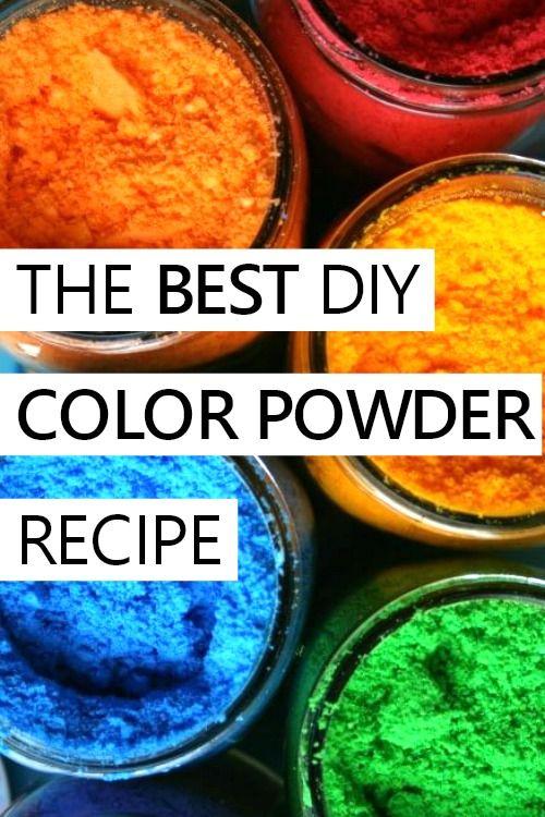 Diy Color Powder For A Color Run Color Fight