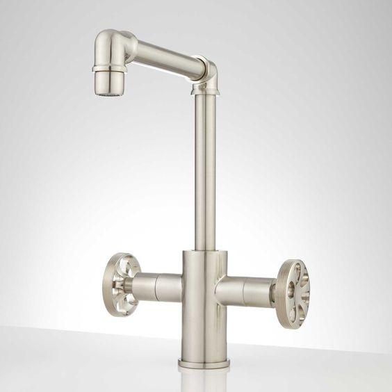 Edison Single Hole Dual Handle Brass Bathroom Faucet with Pop-Up ...