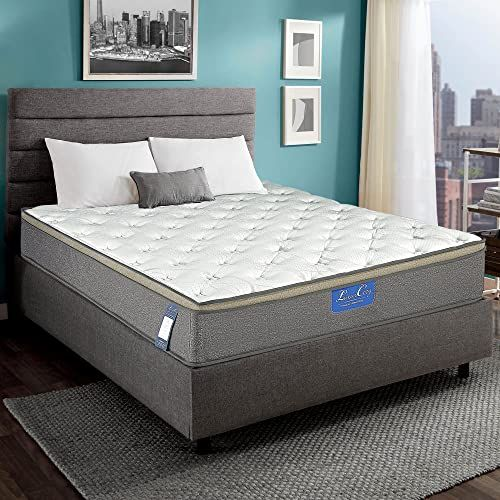 The Luxury Innerspring Mattress 12 Inch Euro Top Medium Soft Hybrid Gel Memory Foam 825 Sets Individual Wrapped Spring Ergonomic Structure Design 10 Years In 2020 Mattress Innerspring Mattresses Euro Top Mattress