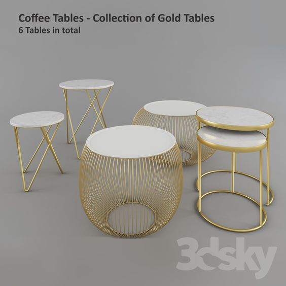 3d Models Table Coffee Table Zara Home Gold Tables Zara Home Table Zara Home Coffee Table Gold Table