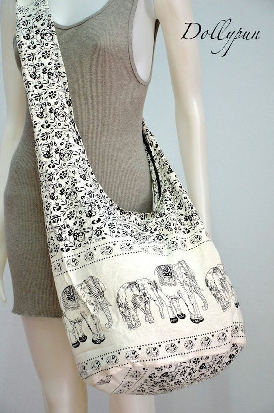 Absolute White  Bohemian Hippie Elephant Printed by Dollypun