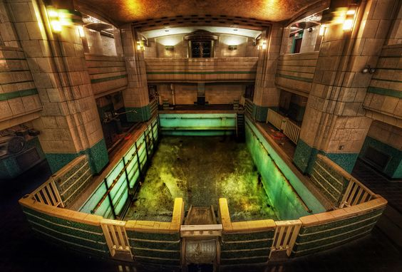 Queen Mary Pool-the creepiest spot on the ship in my opinion! Said to be haunted by the ghost of a little girl