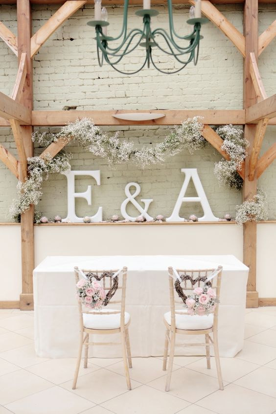 Wedding Ceremony Decorations Adelaide : Grey and pink wedding at gaynes park initials