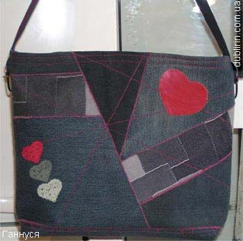 recycled denim bag tutorial love the red hearts i 39 d like