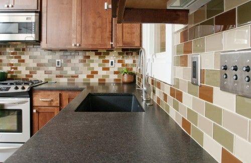 earth tones subway tile backsplash stainless steel outlet