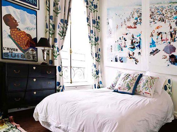 www.fromtherightbank.com: Guest Room, Bedrooms Apartment, Guest Bedroom, Art Design, White Bedrooms, Bedroom Style, Bedroom Apartment
