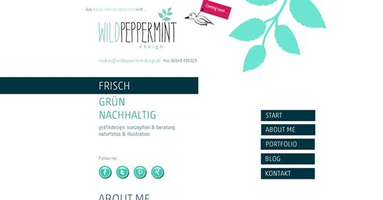 Meine neue #Website www.wildpeppermint-design.de