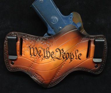 Custom leather holsters. Handmade to order, heirloom quality. Custom art and…