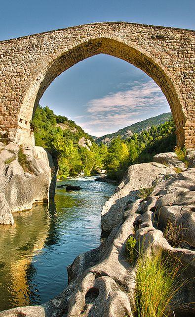 Spain Puente romano de Cangas de Onís, cerca de Covadonga, Asturias- España