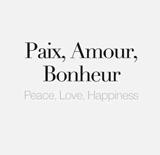 Paz Amor Felicidad Palabras Francesas Citras Francesas