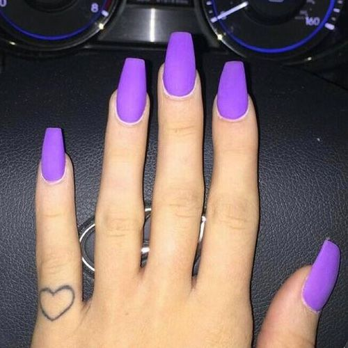 Best Acrylic Nails 54 Best Acrylic Nails For 2020 Hashtagnailart Com Purple Acrylic Nails Matte Purple Nails Best Acrylic Nails