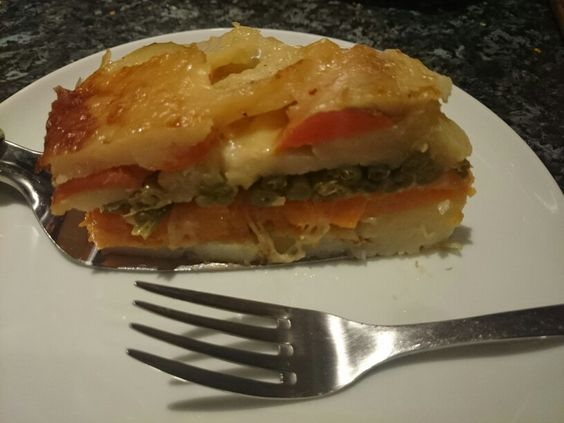 Vegetable Torte - just steamed vegetables and cheese